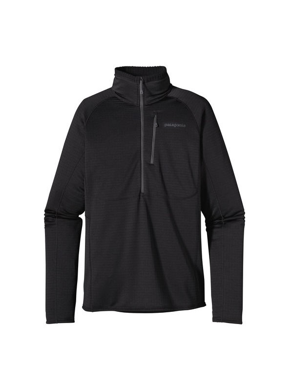 Patagonia Mens Black R1 Fleece Pullover