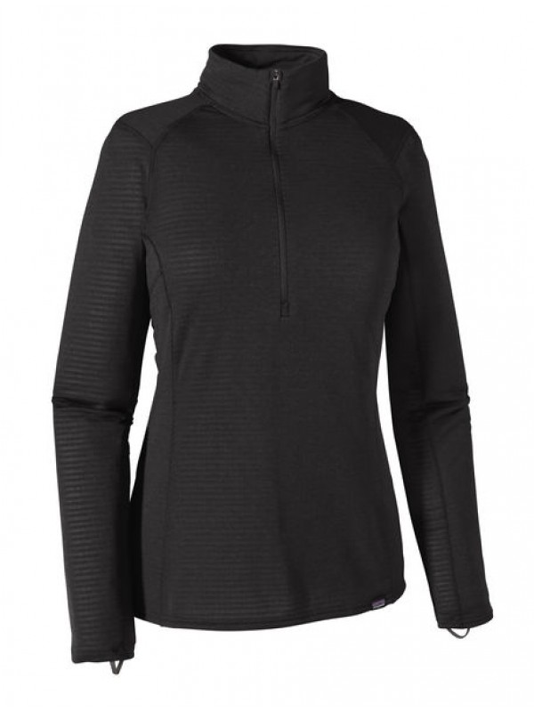 Patagonia Women's Capilene Thermal Weight Zip-Neck: Black