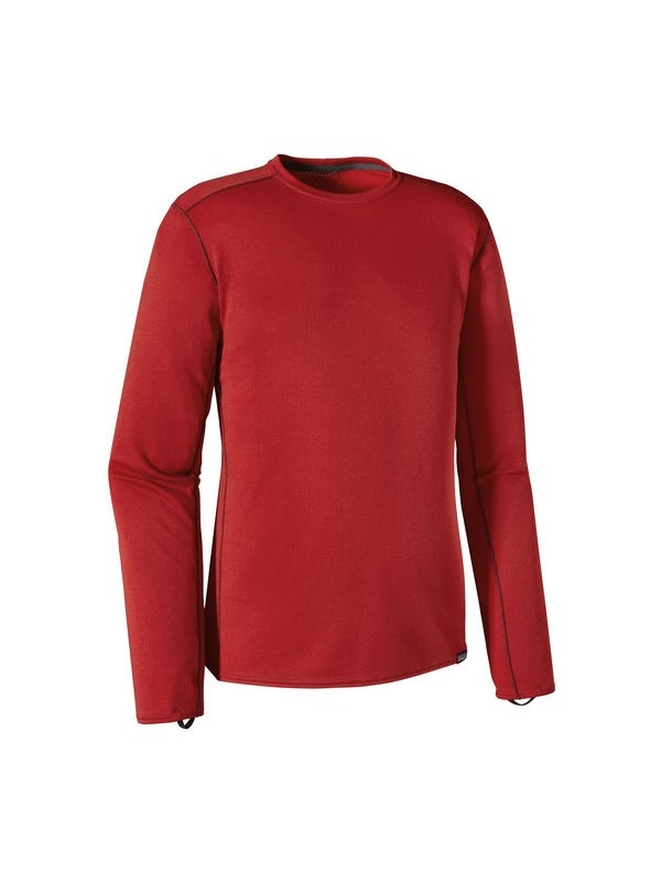 Patagonia Men's Classic Red w French Red Capilene Midweight Crew