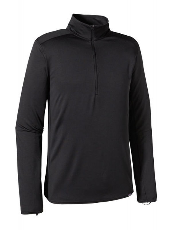Patagonia Men's Black Capilene Midweight Zip-Neck