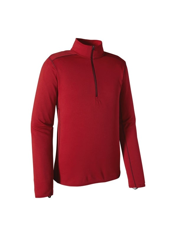 Patagonia Men's Classic Red w French Red Capilene Midweight Zip-Neck