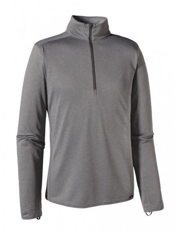 Patagonia Men's Capilene Midweight Zip-Neck : Forge Grey-Feather Grey x-Dye