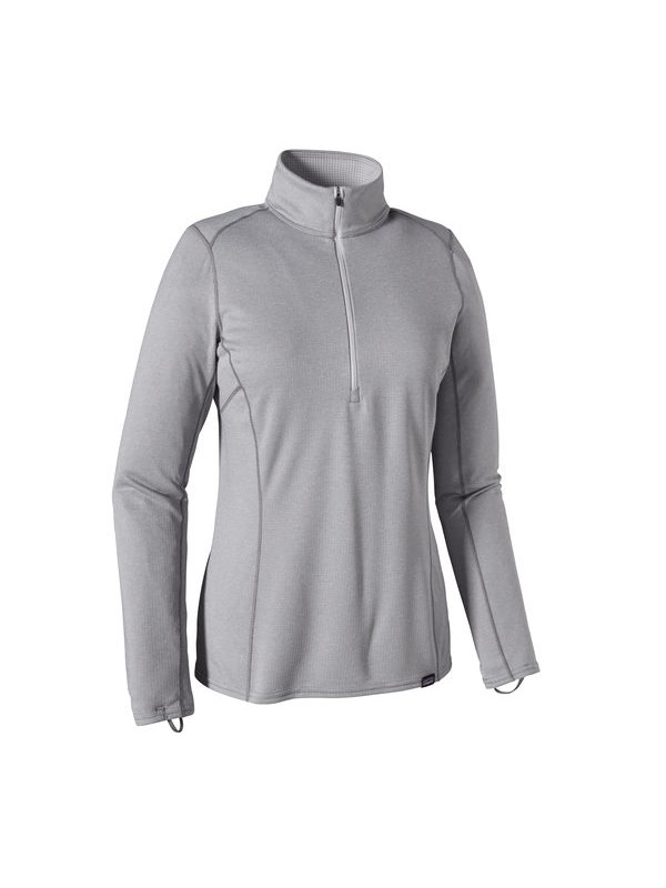 Patagonia Womens Capilene Midweight Zip-Neck: Tailored Grey X- Dye