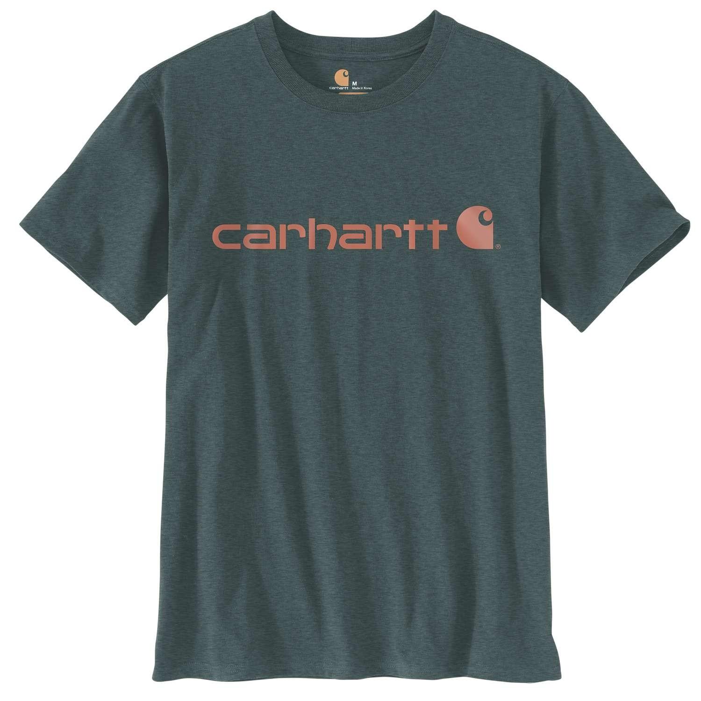 Carhartt Womens Core Logo T-Shirt : Fog Green Heather