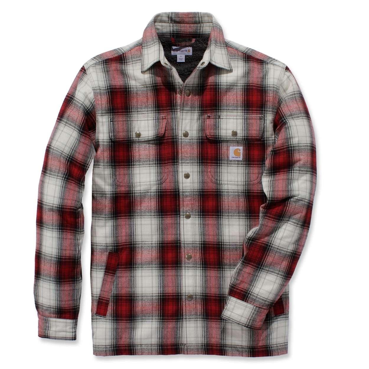 Carhartt Sherpa Lined Shirt Jacket : Dark Crimson