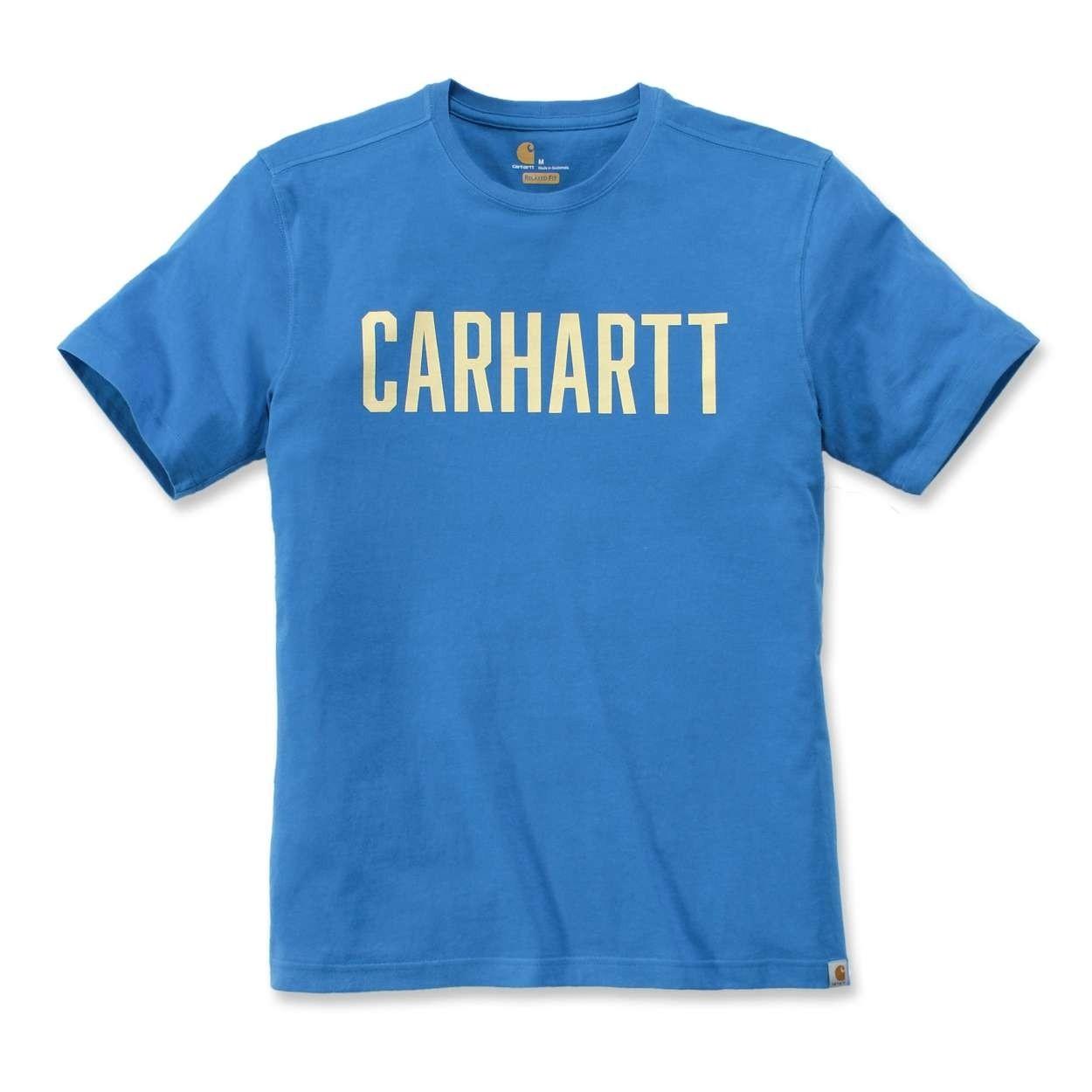Carhartt Southern Block Logo T-Shirt : Bolt Blue