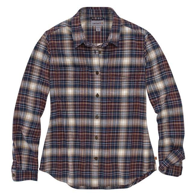 Carhartt Womens Plaid Flannel Shirt : Twilight