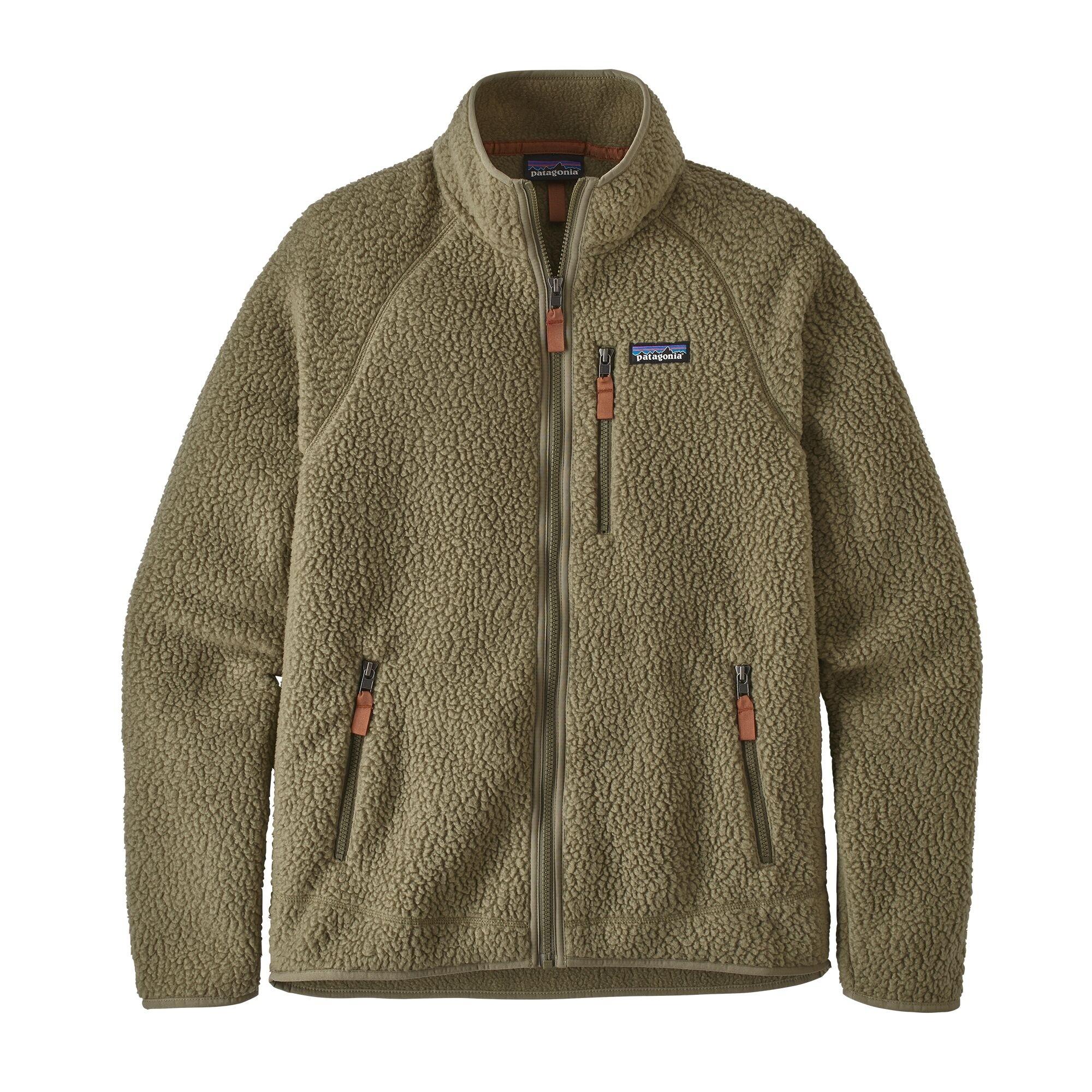 Patagonia Men's Retro Pile Fleece Jacket : Sage Khaki