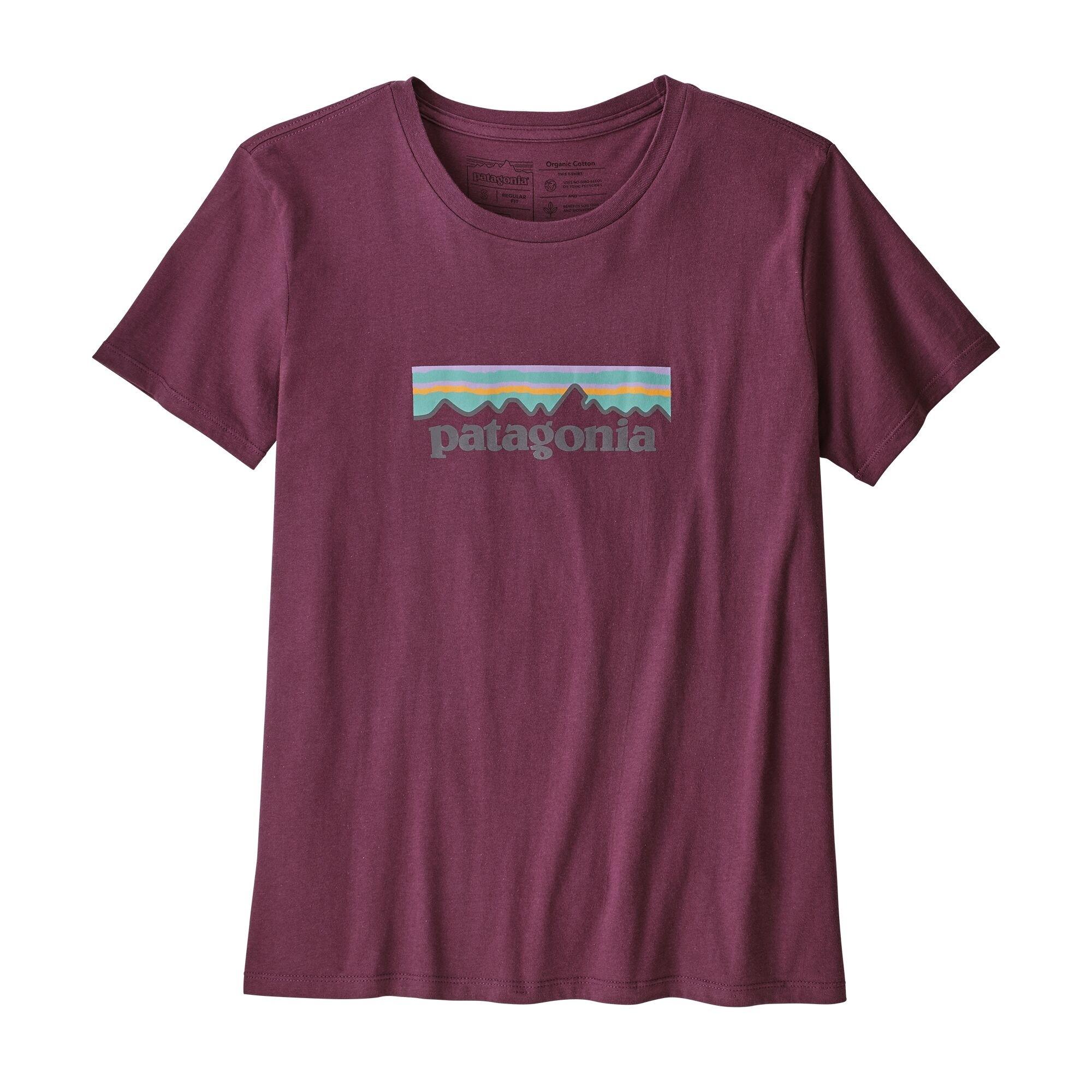 Patagonia Women's Pastel P-6 Logo Organic Cotton Crew T-Shirt : Light Balsamic