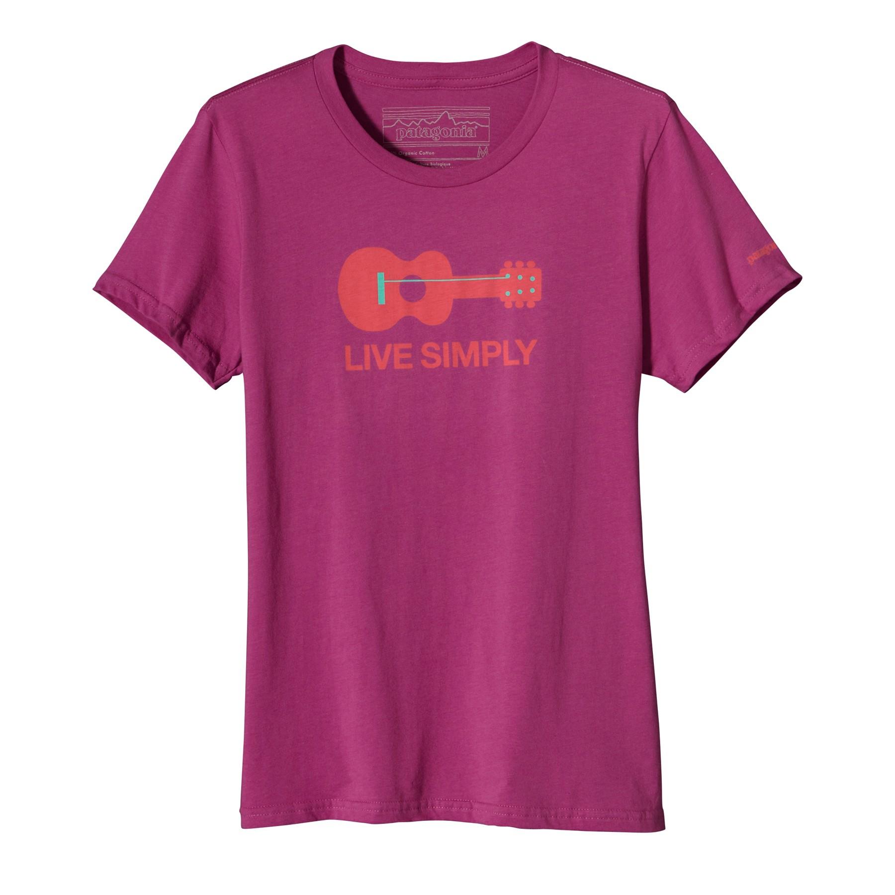 Patagonia Women's Live Simply™ Guitar T-Shirt - Rubellite Pinkl