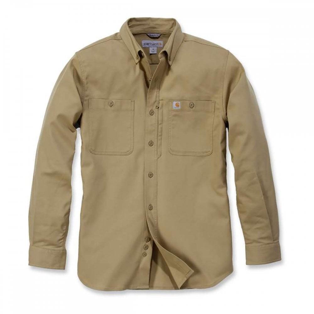 Carhartt Long Sleeved Utility Shirt : Dark Khaki