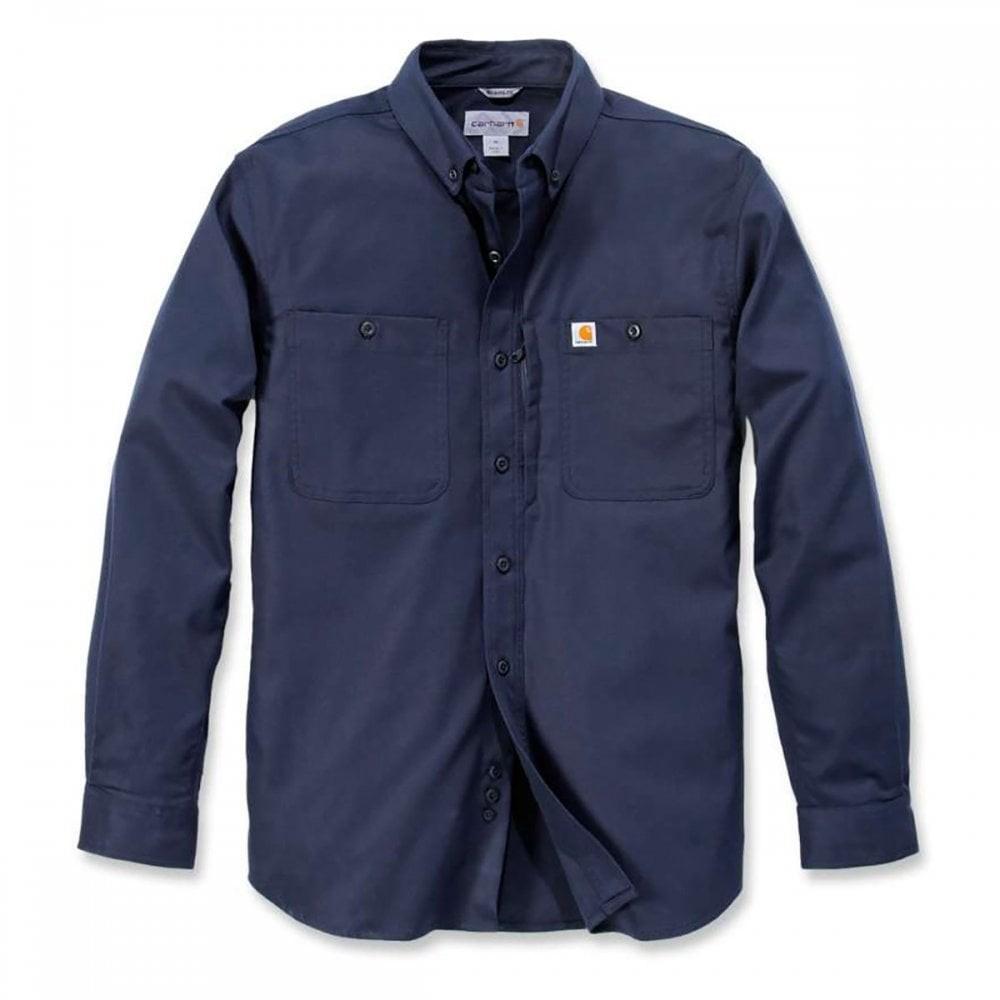 Carhartt Long Sleeved Utility Shirt : Navy