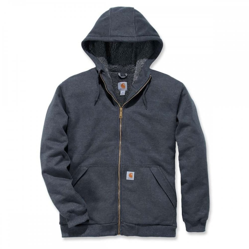 Carhartt Sherpa Lined Full Zip Hooded Sweatshirt : Carbon Heather