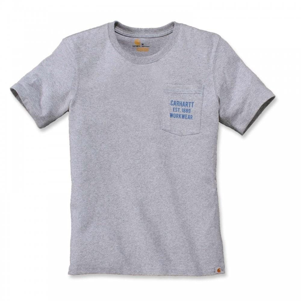 Carhartt Workwear Pocket Graphic T-Shirt : Heather Grey