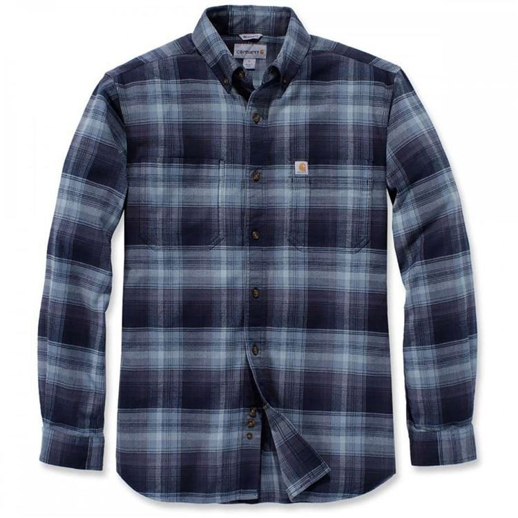 Carhartt Plaid Long Sleeve Shirt  : Navy