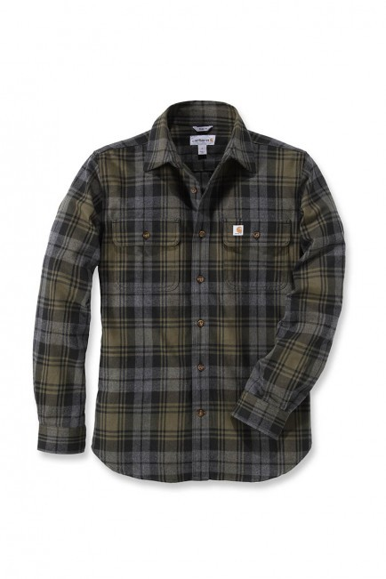 Carhartt Hubbard Slim Fit Flannel Shirt :  Moss