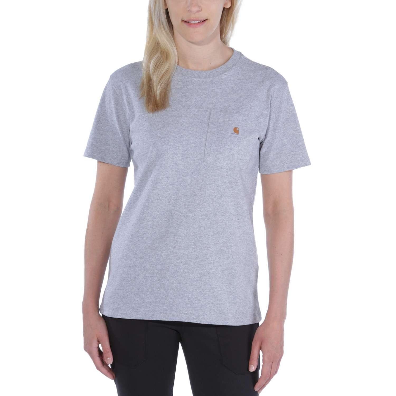 Carhartt Womens Pocket T-Shirt : Heather Grey