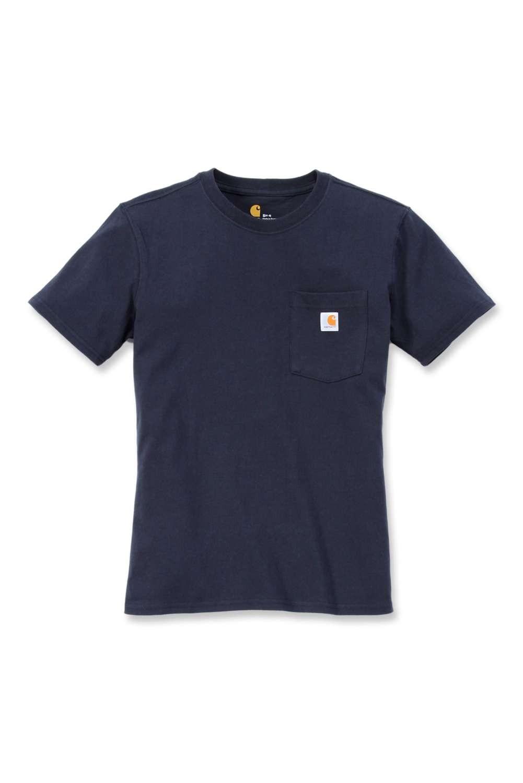 Carhartt Womens Pocket T-Shirt : Navy