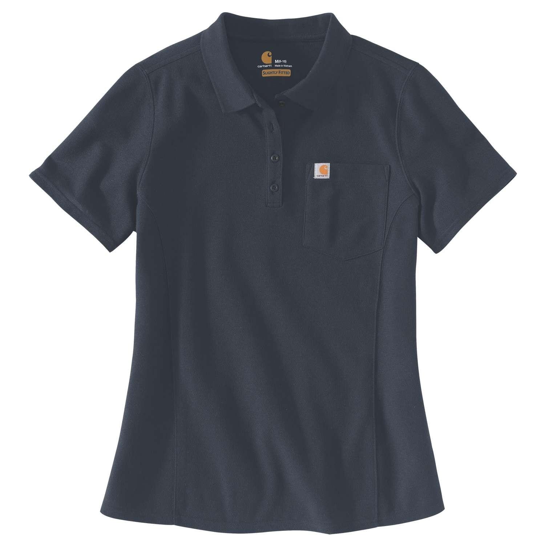 Carhartt Womens Polo Shirt : Navy