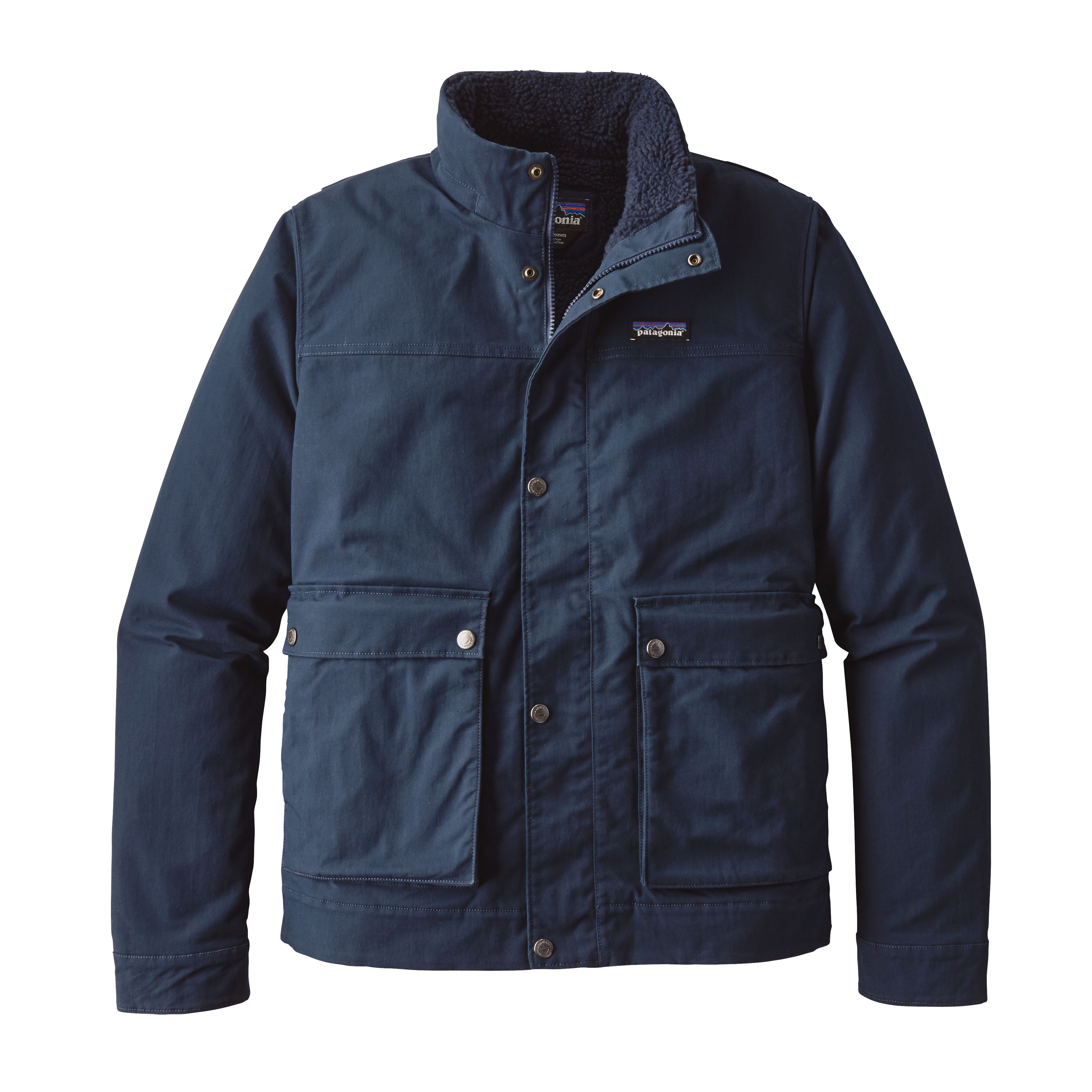 Patagonia Mens Maple Grove Canvas Jacket-Navy Blue