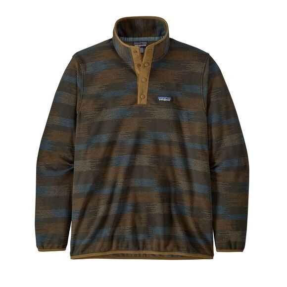 Patagonia Men's Micro D Snap-T Fleece Pullover : Native Seeds: Industrial Green