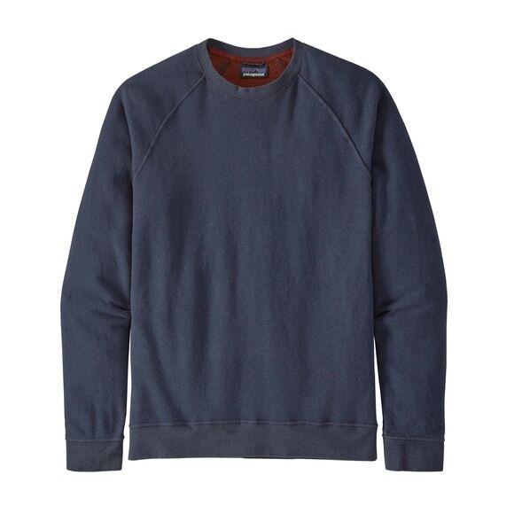 Patagonia Men's Trail Harbor Crewneck Sweatshirt : New Navy w/Barn Red