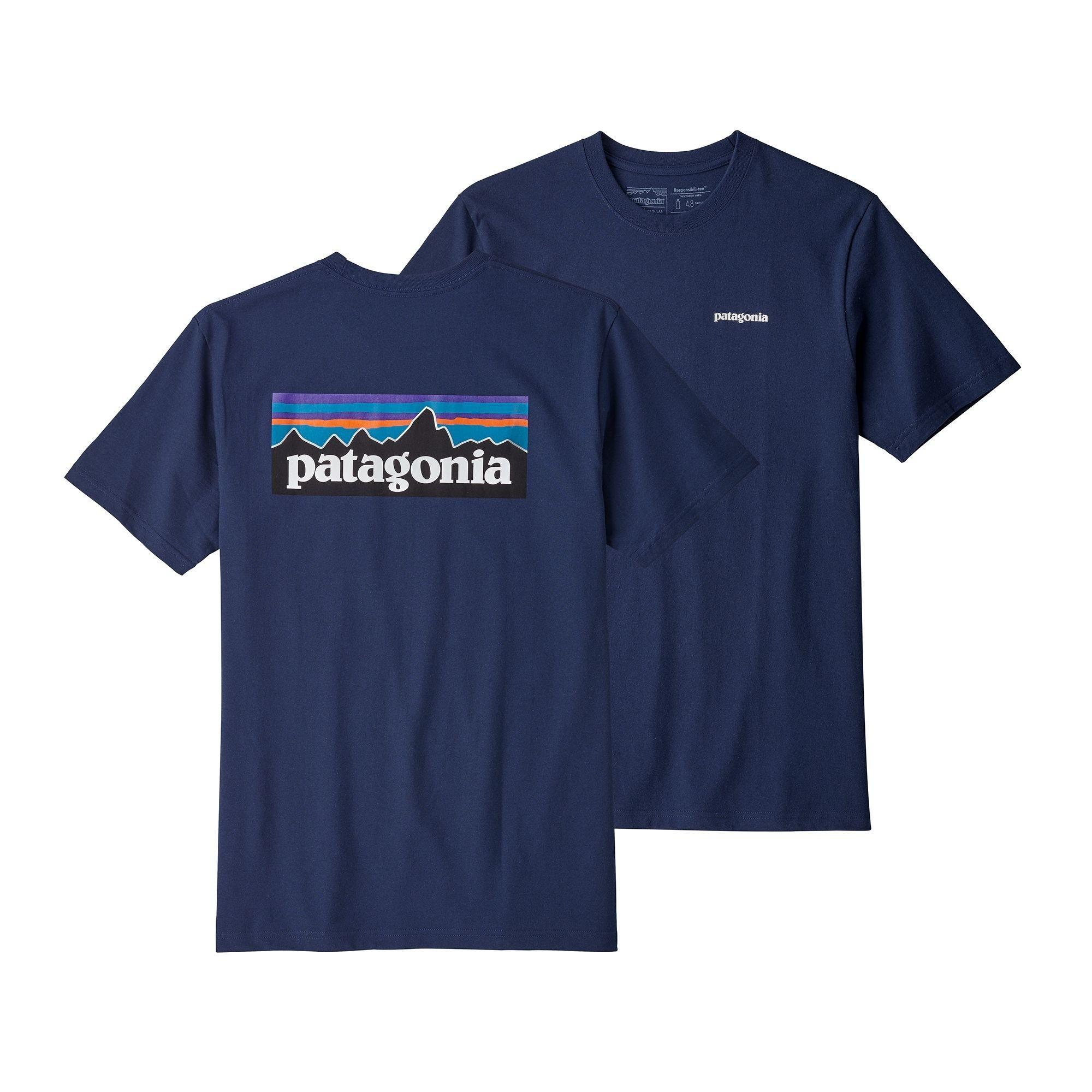 Patagonia Mens  P-6 Logo Responsibili-Tee : Classic Navy