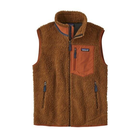 Patagonia Mens Classic Retro-X Fleece Vest : Bear Brown