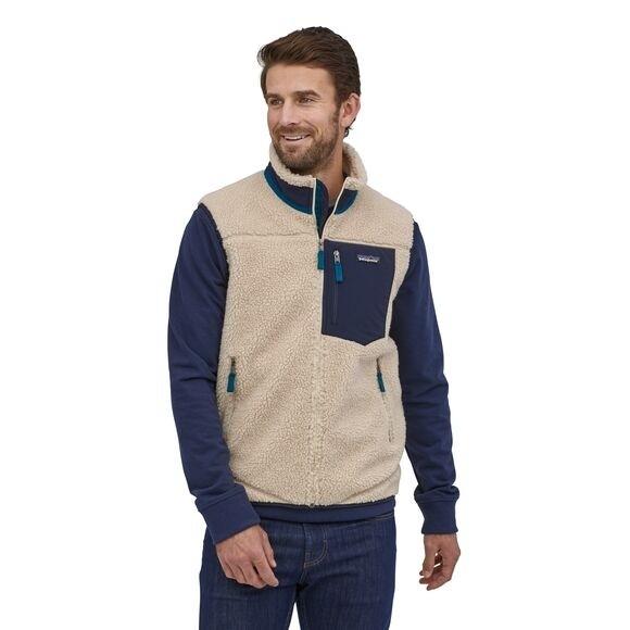 Patagonia Mens Classic Retro-X Fleece Vest : Natural