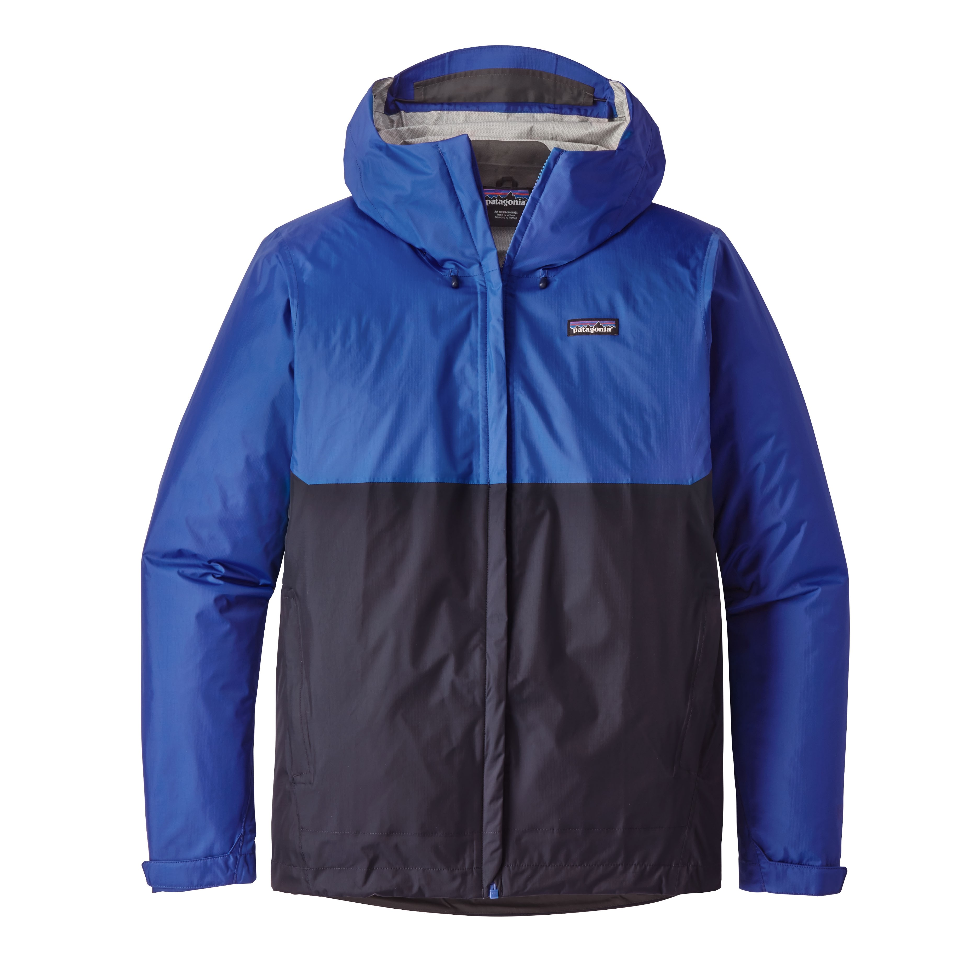 Patagonia Mens Torrentshell Jacket : Viking Blue w Navy Blue