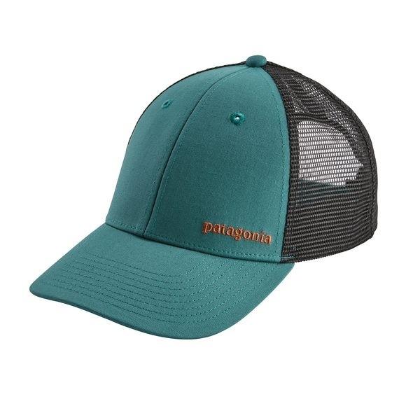 Patagonia Small Text Logo LoPro Trucker Hat : Tasmanian Teal