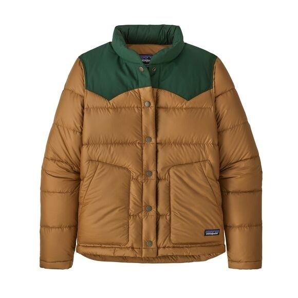 Patagonia Womens Bivy Jacket : Nest Brown w/Sublime Green