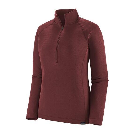 Patagonia Women's Capilene Midweight Zip-Neck : Chicory Red - X-Dye