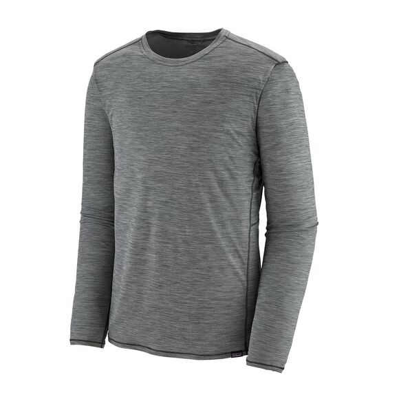 Patagonia Men's Long-Sleeved Capilene® Cool Lightweight Shirt : Forge Grey Feather Grey X-Dye