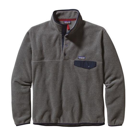 Patagonia Nickel w Navy Blue European Fit Lightweight Synchilla® Snap-T Fleece Pullover