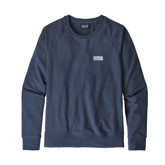 Patagonia Women's Pastel P-6 Label Ahnya Crew Sweatshirt : Stone Blue