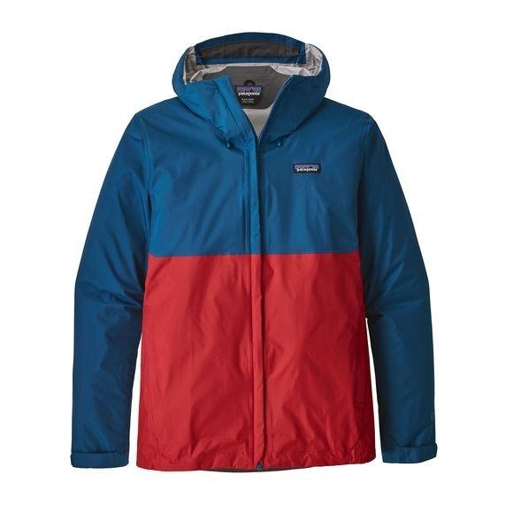 Patagonia Mens Torrentshell Jacket : Big Sur Blue w Fire