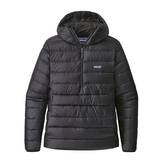 Patagonia Mens Down Sweater Hoody Pullover : Black