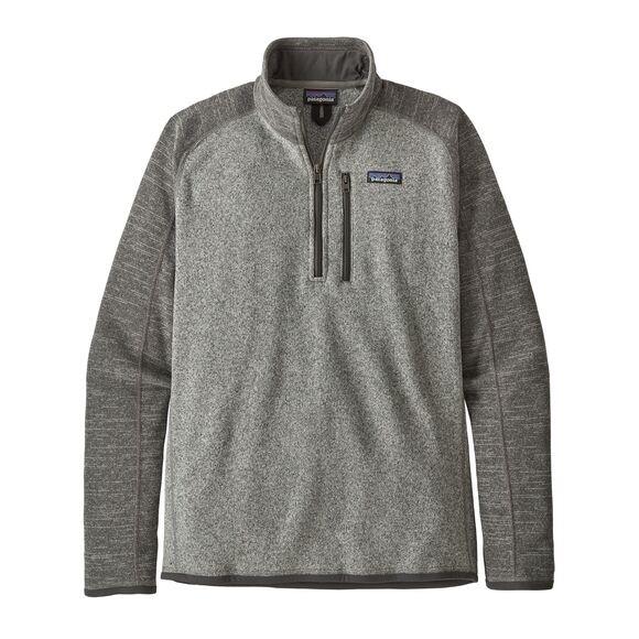 Patagonia Men's Better Sweater™ 1/4-Zip Fleece : Nickel w Forge Grey
