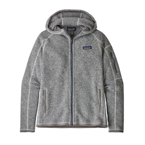 Patagonia Women's Better Sweater Fleece Hoody : Birch White