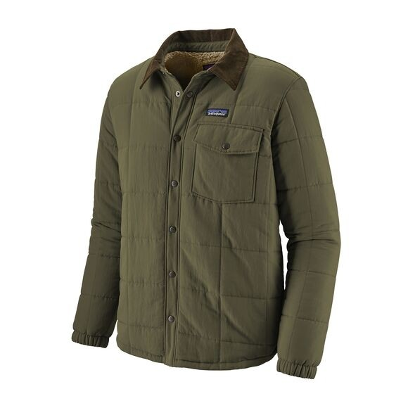 Patagonia Men's Isthmus Quilted Shirt Jacket : Industrial Green