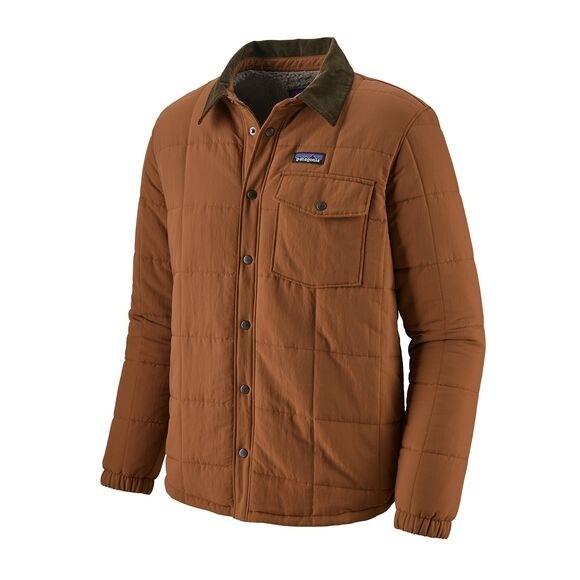 Patagonia Men's Isthmus Quilted Shirt Jacket : Sisu Brown