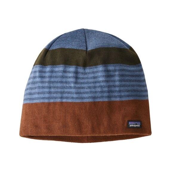 Patagonia Beanie Hat : Fitz Roy Stripe: Sisu Brown