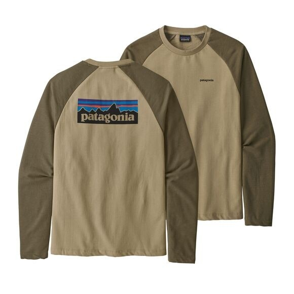 Patagonia P-6 Logo Lightweight Crew Sweatshirt : El Cap Khaki
