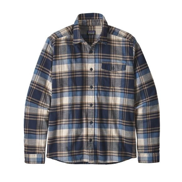 Patagonia Mens  L/W Fjord Flannel Shirt : Buttes: New Navy