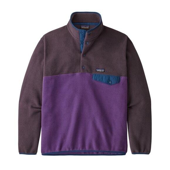 Patagonia European Fit Lightweight Synchilla® Snap-T Fleece Pullover : Purple