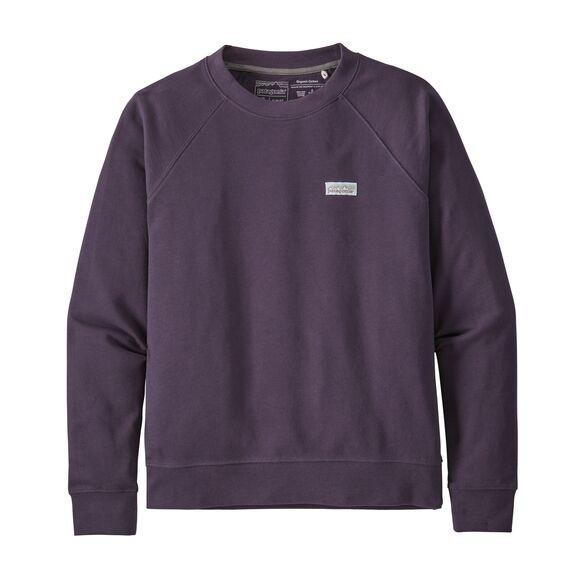 Patagonia Women's Pastel P-6 Label Organic Cotton Crew Sweatshirt : Piton Purple
