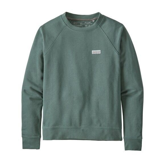 Patagonia Women's Pastel P-6 Label Organic Cotton Crew Sweatshirt : Regent Green