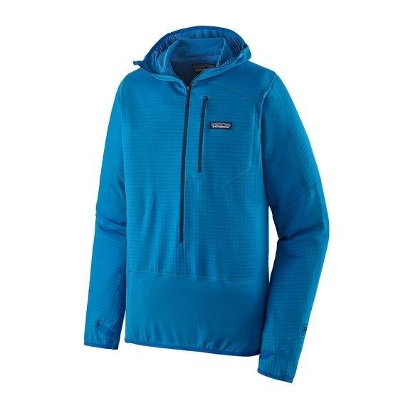 Patagonia Men's R1 Fleece Pullover Hoody : Andes Blue