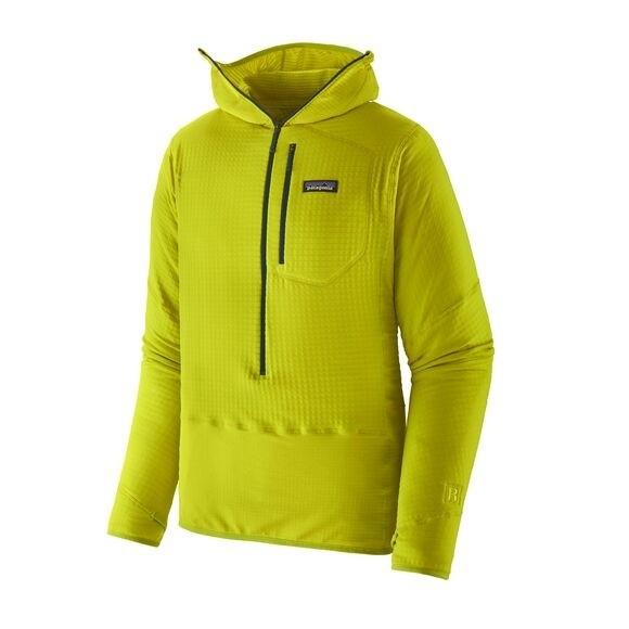 Patagonia Men's R1 Fleece Pullover Hoody : Chartreuse